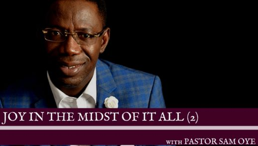 Pastor Sam Oye at the JOY IN THE MIDST OF IT ALL by Hope Assured World Outreach
